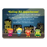 Cute Colourful Superhero Birthday Party For Kids 5x7 Paper Invitation Card