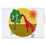 Cute Colourful Watercolor TAll Giraffe African