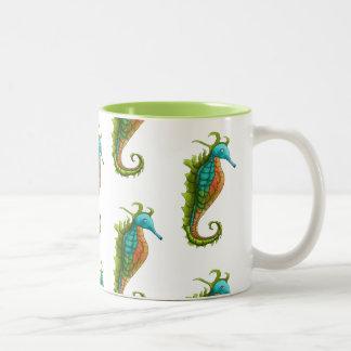 Cute Colroful Island Art Seahorse Mug by Yotigo