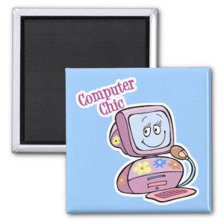 Cute Computer Chic Design Magnet