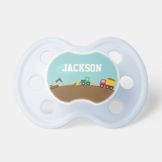 Cute Construction Vehicles For Baby Boys Baby Pacifier
