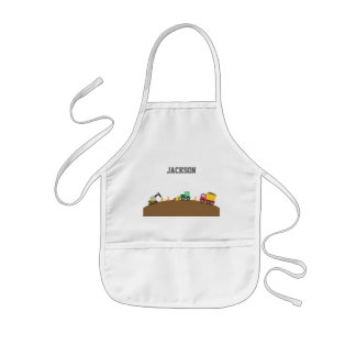 Cute Construction Vehicles For Boys Aprons