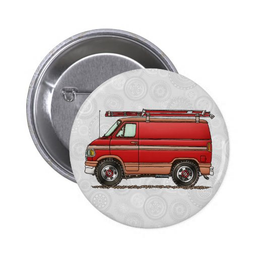 Cute Contractor Van Button