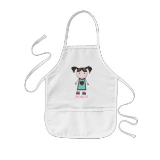 Cute Cooking Girl Kids Apron