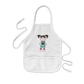 Cute Cooking Girl Kids Apron