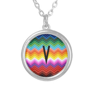 Cute Cool Chevron Rainbow Zigzag / House-of-Grosch Silver Plated Necklace