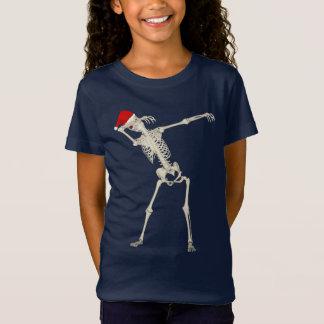 Cute Cool Christmas Dabbing Punk Skeleton Funny T-Shirt