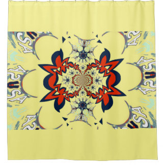Cute Cool creamy floral amazing pattern design Shower Curtain