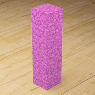 Cute cool girly swirls vibrant pink SWIRLS11 Wine Bottle Boxes