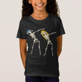 Cute Cool Halloween Dabbing Punk Skeleton Funny T-Shirt
