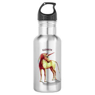Cute Cool Pink Standing Unicorn Symbol Of Purity 532 Ml Water Bottle