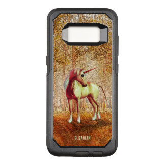 Cute Cool Pink Standing Unicorn Symbol Of Purity OtterBox Commuter Samsung Galaxy S8 Case