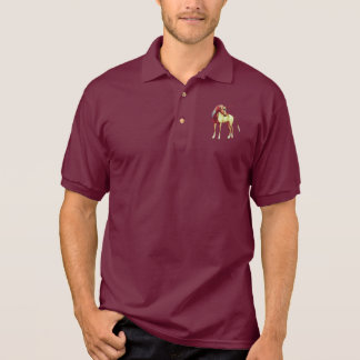 Cute Cool Pink Standing Unicorn Symbol Of Purity Polo Shirt