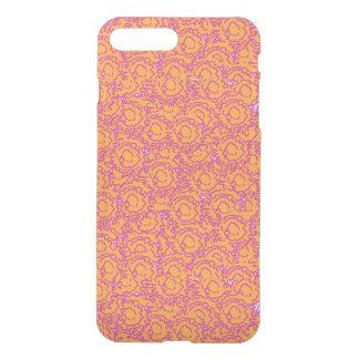 Cute cool swirls pink and orange pattern iPhone 7 plus case