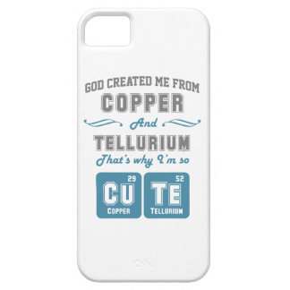 Cute Copper And Tellurium Joke Barely There iPhone 5 Case