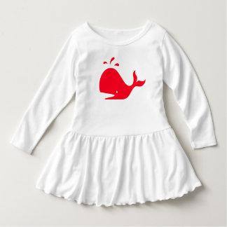 Cute Coral Whale 4Tricia Dress