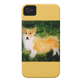 Cute Corgi Dog Art iPhone 4 Covers