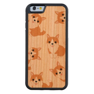 Cute Corgi Dogs iPhone 6/6s Cherry Wood Case