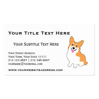 Cute Corgi for Breeder, Dog Trainer, Dog Walker Double-Sided Standard Business Cards (Pack Of 100)