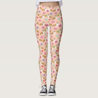 Cute Corgi Pattern - Leggings
