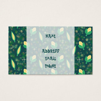 Cute Corn Veggie Pattern Business Card