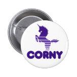 Cute Corny Unicorn 6 Cm Round Badge