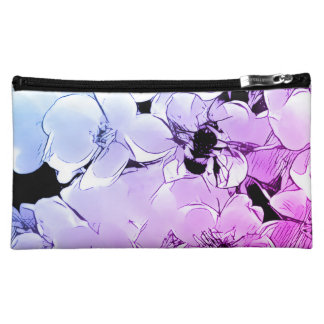 Cute Cosmetic Bag with Bumblebee Rose Design