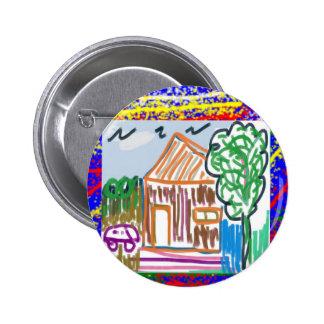 CUTE COTTAGE HOME : KIDS ART 6 CM ROUND BADGE