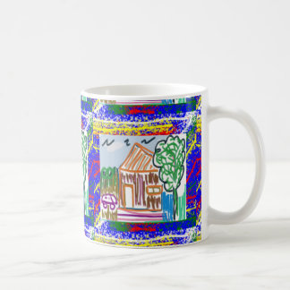 CUTE COTTAGE HOME : KIDS ART BASIC WHITE MUG