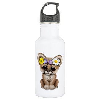 Cute Cougar Cub Hippie 532 Ml Water Bottle