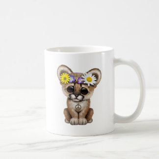 Cute Cougar Cub Hippie Coffee Mug