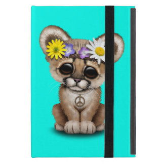 Cute Cougar Cub Hippie iPad Mini Cover