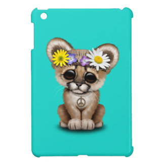Cute Cougar Cub Hippie iPad Mini Covers