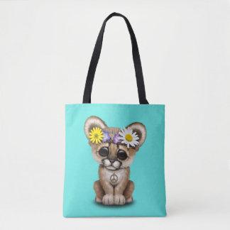 Cute Cougar Cub Hippie Tote Bag