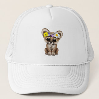 Cute Cougar Cub Hippie Trucker Hat