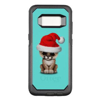 Cute Cougar Cub Wearing a Santa Hat OtterBox Commuter Samsung Galaxy S8 Case