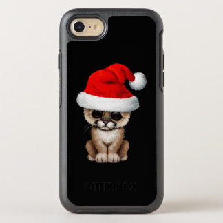 Cute Cougar Cub Wearing a Santa Hat OtterBox Symmetry iPhone 8/7 Case
