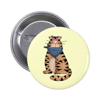 Cute Country Cat Pinback Buttons