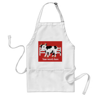 Cute Country Cow add words kitchen apron