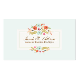 Cute Country Flowers Vintage Floral Boutique Pack Of Standard Business Cards