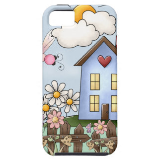 Cute Country Folk Art Picture Tough iPhone 5 Case