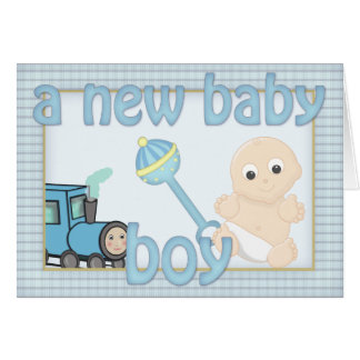 Cute Country Kitsch New Baby Boy Congratulations Cards