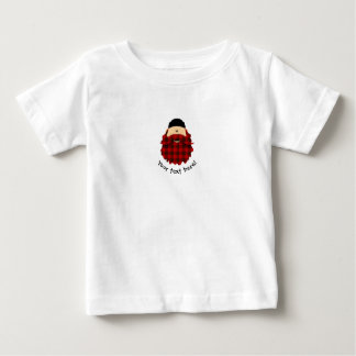 Cute Country Plaid Flannel Red Bearded Character Baby T-Shirt