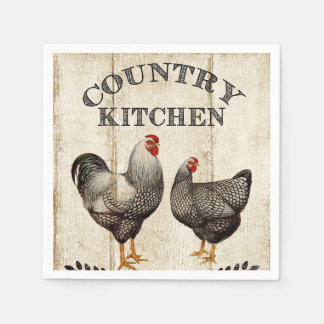 Cute Country Rooster Vintage party napkins Paper Napkin