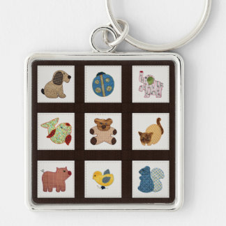 Cute Country Style Baby Animals Quilt Key Chains