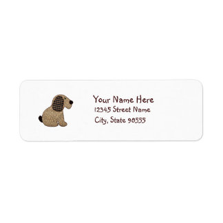 Cute Country Style Gingham Dog Return Address Label