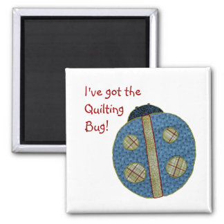 Cute Country Style Quilting Ladybug Square Magnet