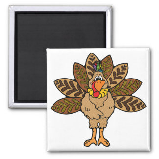 cute country turkey magnet