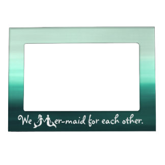 Cute Couple Mermaid Frame Frame Magnet