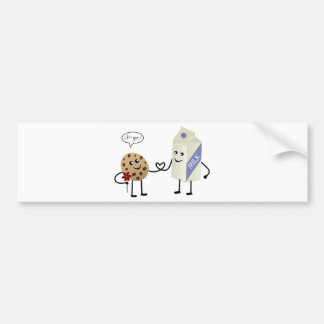 Cute Couple - Milk and Cookie Bumper Stickers